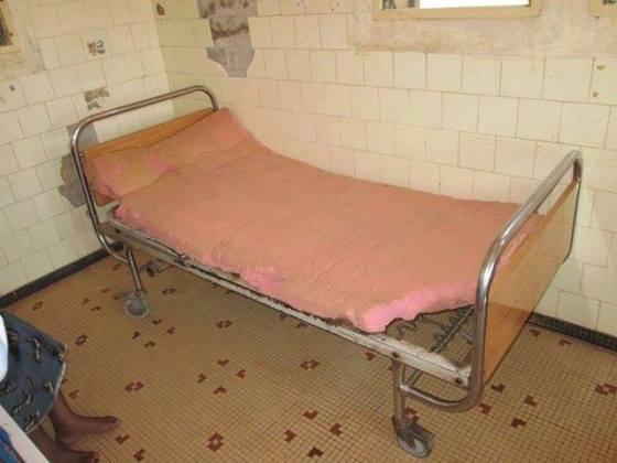 Krankenbett in Afrika
