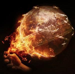 Welt brennt