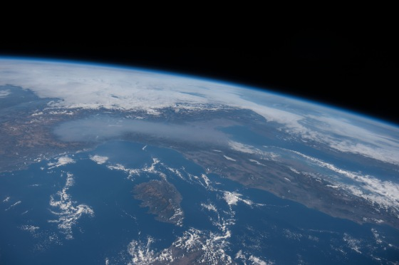 smog over po valley - Foto NASA