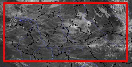 Satellitenbild Chems über Deutschland
