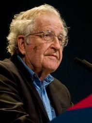 Noam Chomsky erhält den Sean-MacBride-Friedens-Preis.
