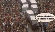 """#Frauenmarsch: Geht man so mit friedlichen Rentnernum?"""""""