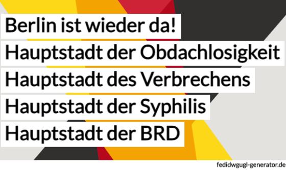 Berlin ist wieder da Plakat