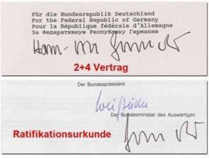 2plus4 Unterschrift Genscher